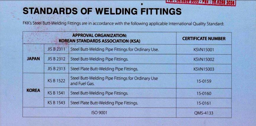 tiêu chuẩn phụ kiện fkk 2020